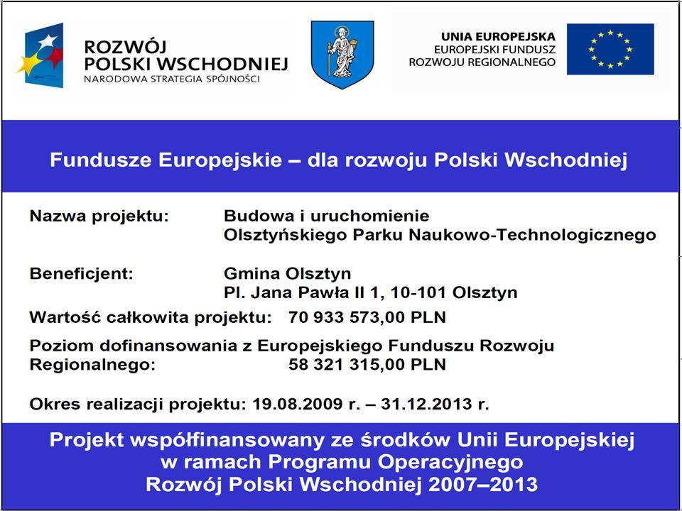 Olsztyński Park Naukowo- Technologiczny zlokalizowany będzie we wschodniej części miasta, w niewielkiej odległości od Jeziora Skanda i Al.