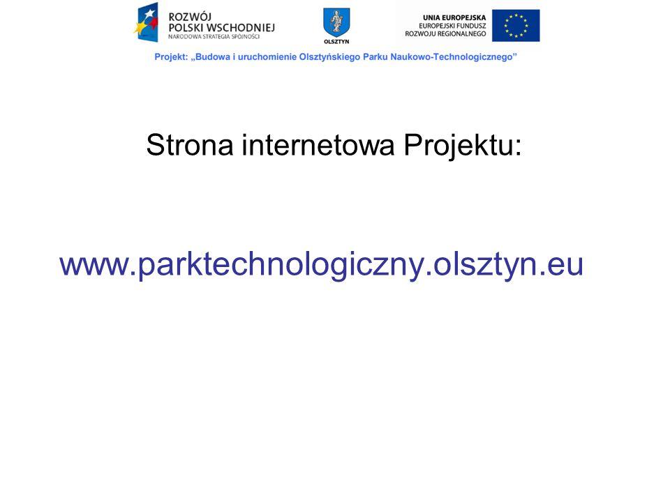 Strona internetowa Projektu: www.parktechnologiczny.olsztyn.eu