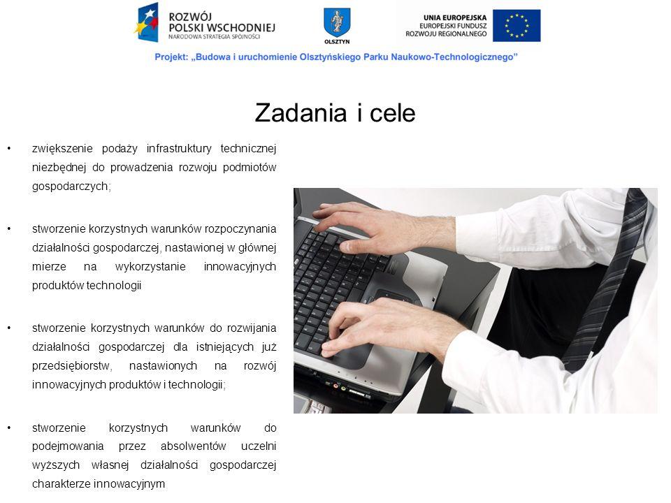 stworzenie korzystnych warunków do powstawania nowych miejsc pracy (przede wszystkim w rozwojowych branżach gospodarki); efektywne wykorzystanie potencjału naukowego województwa do rozwoju społeczno- gospodarczego; poprawa warunków rozwoju oraz wzrost udziału sektora MSP w gospodarce lokalnej i regionalnej; wzmocnienie współpracy między przedsiębiorcami a sferą badawczo-naukową; zwiększenie zdolności przedsiębiorstw do tworzenia i wdrażania nowych technologii; wzmocnienie współpracy pomiędzy przedsiębiorstwami.