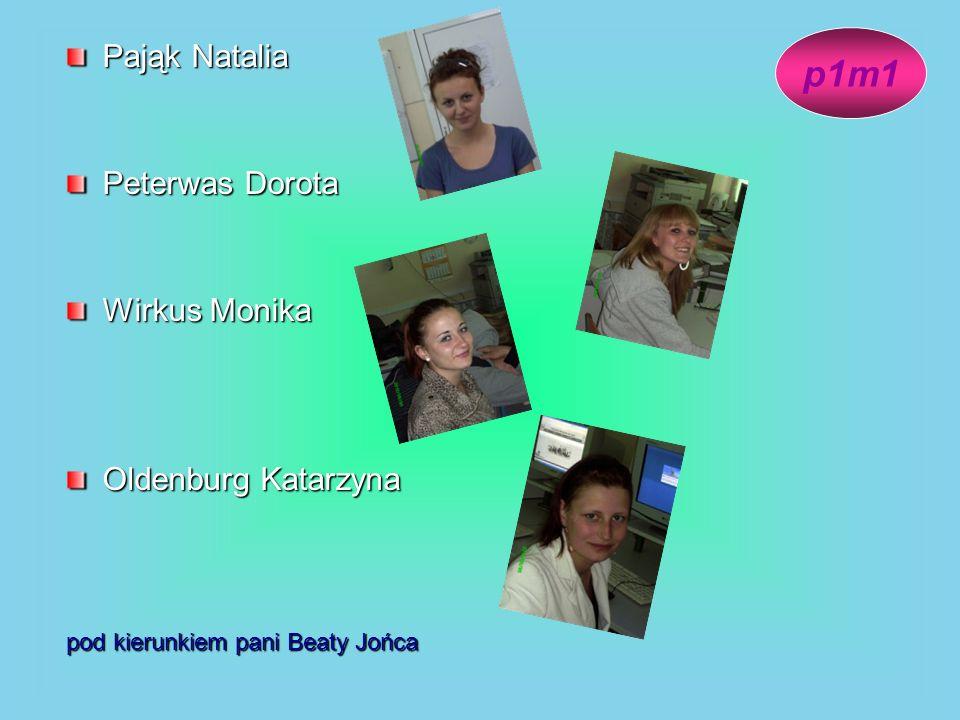 Pająk Natalia Peterwas Dorota Wirkus Monika Oldenburg Katarzyna pod kierunkiem pani Beaty Jońca p1m1