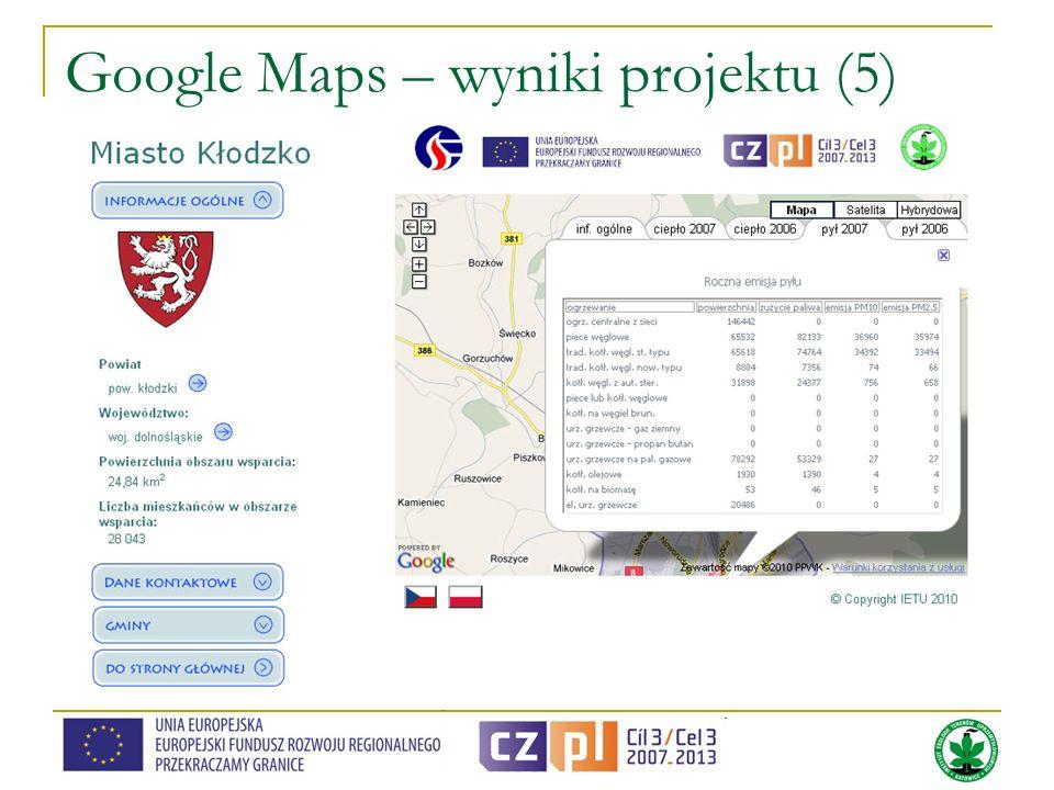 Google Maps – wyniki projektu (5)
