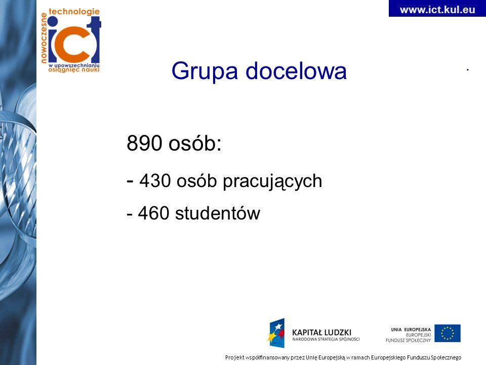 Projekt współfinansowany przez Unię Europejską w ramach Europejskiego Funduszu Społecznego www.ict.kul.eu.