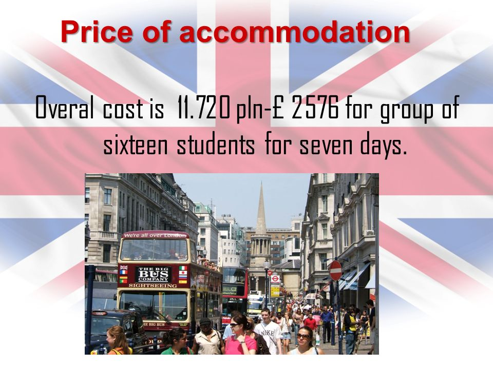 Brand Full board for the entire group is the cost: £ 1,280 The board includes breakfast and dinner.