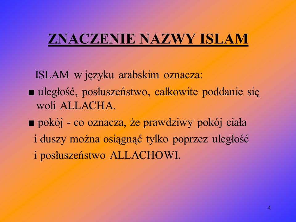 5 INFORMACJE OGÓLNE religia monoteistyczna islam dzieli się na 3 odłamy: sunnicki (90 %), szyicki (8 %), charydżycki ( 2 %).