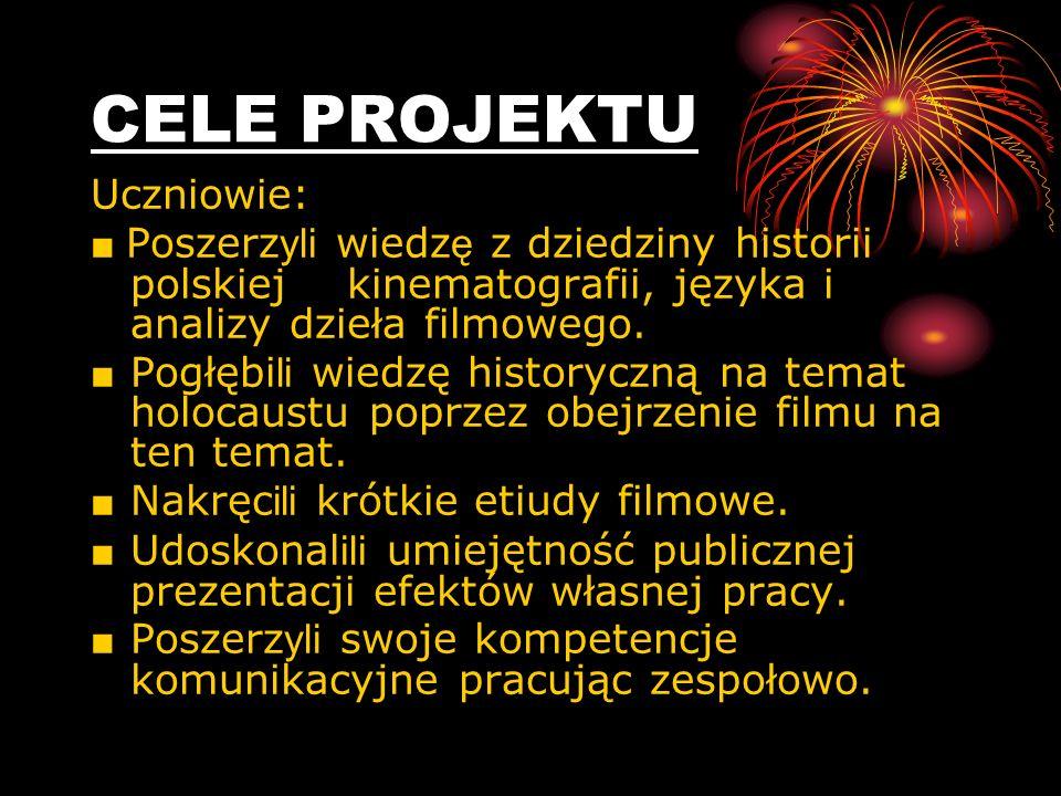 Kurs internetowy składał się z IV modułów: Historia polskiej kinematografii Analiza dzieła filmowego Pisanie recenzji Kręcenie własnych filmów