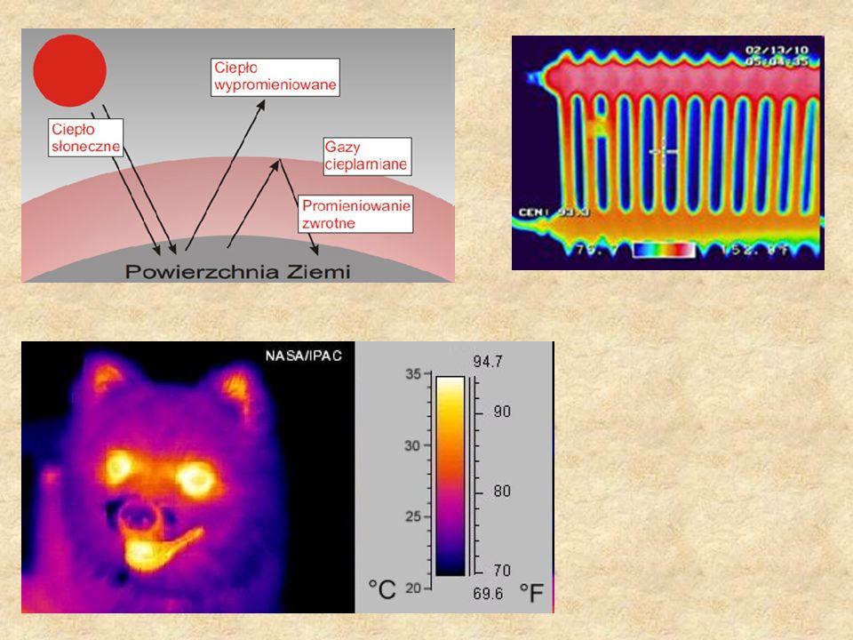 Promieniowanie ( promieniowanie termiczne ) Promieniowanie termiczne to promieniowanie które emituje ciało mające temperaturę większą od zera bezwzglę