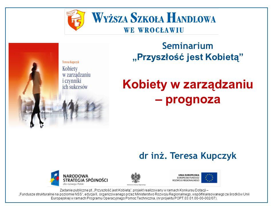 Zadanie publiczne pt. Przyszłość jest Kobietą, projekt realizowany w ramach Konkursu Dotacji – Fundusze strukturalne na poziomie NSS, edycja II, organ