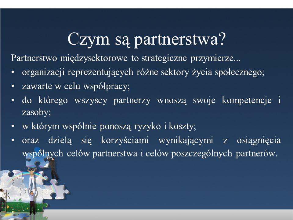 Podstawowe, krajowe regulacje prawne związane z zasadą partnerstwa Konstytucja RP (Dz.