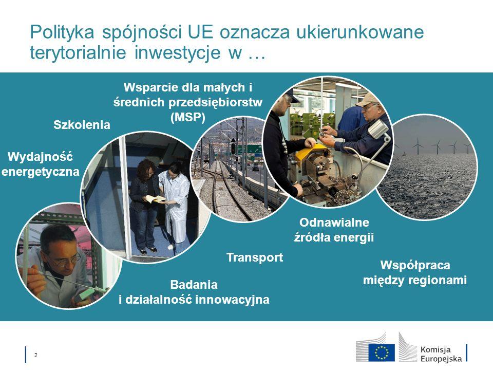 European Union Cohesion Policy 3 DOŚWIADCZENIA Z OKRESÓW WCZEŚNIEJSZYCH JAKO BAZA DLA NOWEJ POLITYKI SPÓJNOŚCI 1.Trudności z określeniem wyraźnego wpływu polityki spójności poprzez mierzalne wskaźniki; 2.Wielowymiarowy charakter polityki spójności wymagający większego wysiłku w zapewnieniu odpowiednich środków finansowych i ich koncentracji; 3.Potrzeba zapewnienia realizacji polityk wspólnotowych przy wykorzystaniu zalet wielopoziomowego zarządzania; 4.Rezultaty polityki spójności zależne od krajowych polityk dot.