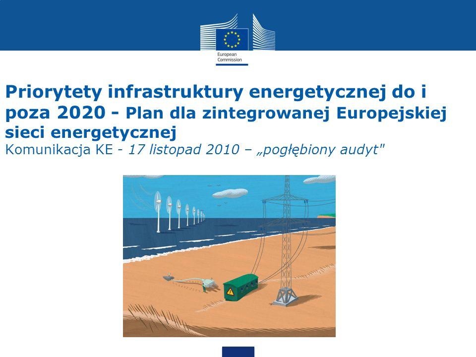Priorytety infrastruktury energetycznej do i poza 2020 - Plan dla zintegrowanej Europejskiej sieci energetycznej Komunikacja KE - 17 listopad 2010 – p