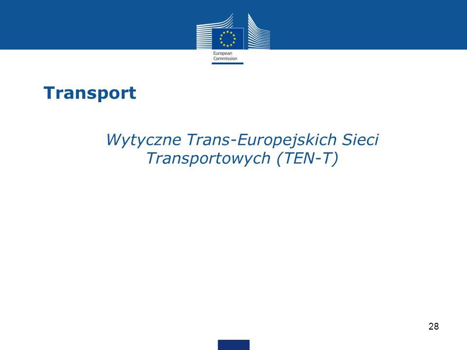 Transport 28 Wytyczne Trans-Europejskich Sieci Transportowych (TEN-T)