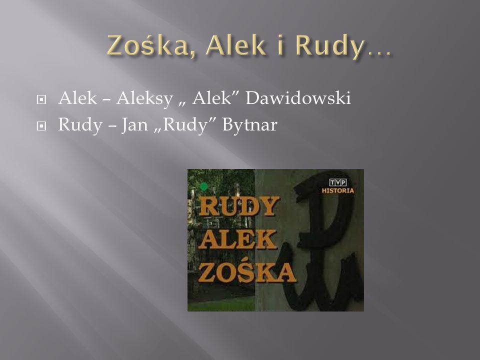 Alek – Aleksy Alek Dawidowski Rudy – Jan Rudy Bytnar