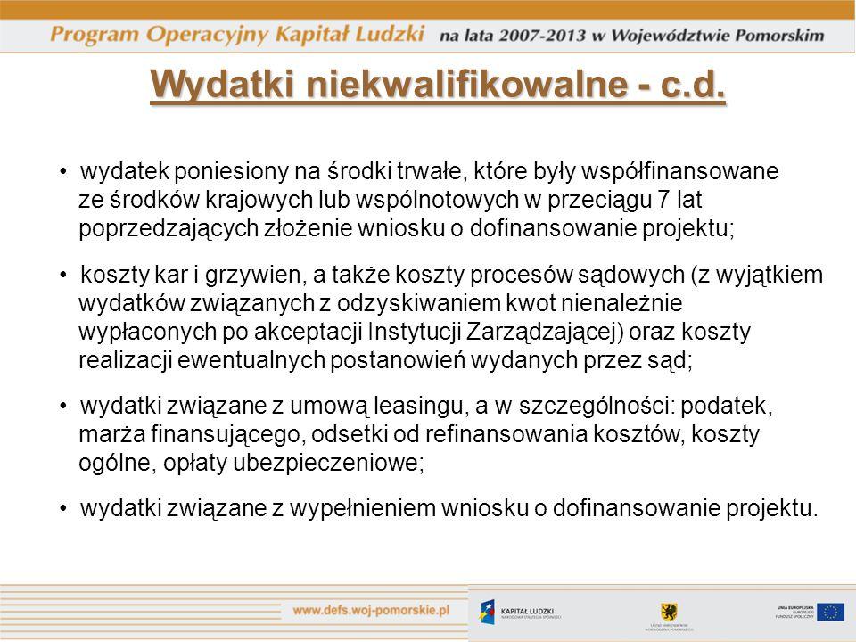 Punkt Konsultacyjny PO KL Urząd Marszałkowski Województwa Pomorskiego ul.
