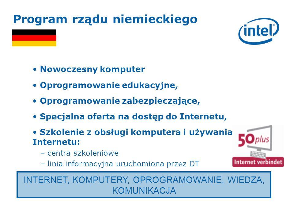 INTERNET, KOMPUTERY, OPROGRAMOWANIE, WIEDZA, KOMUNIKACJA Program rządu niemieckiego Nowoczesny komputer Oprogramowanie edukacyjne, Oprogramowanie zabe