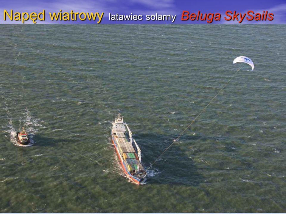 Napęd wiatrowy latawiec solarny Beluga SkySails