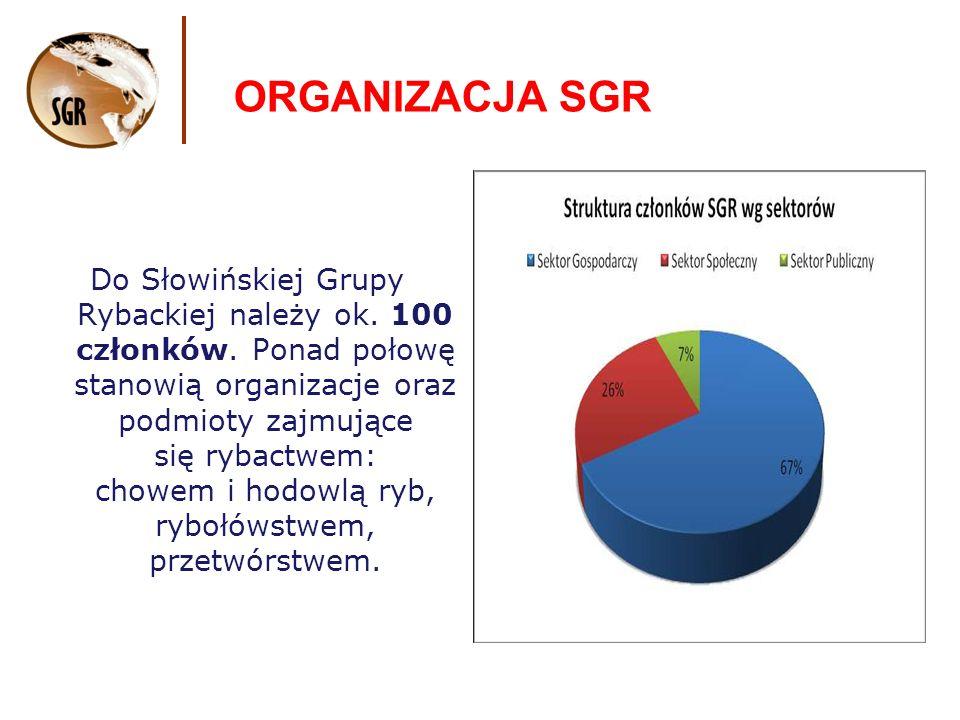 ORGANIZACJA SGR Do Słowińskiej Grupy Rybackiej należy ok.