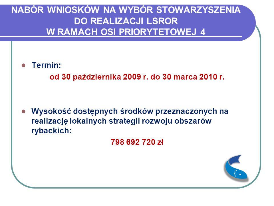 WERYFIKACJA WNIOSKÓW W terminie do 30 marca 2010 r.