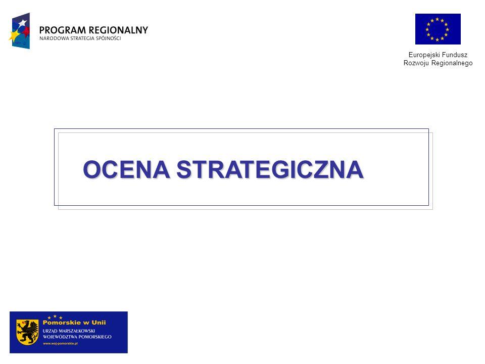 OCENA STRATEGICZNA Europejski Fundusz Rozwoju Regionalnego