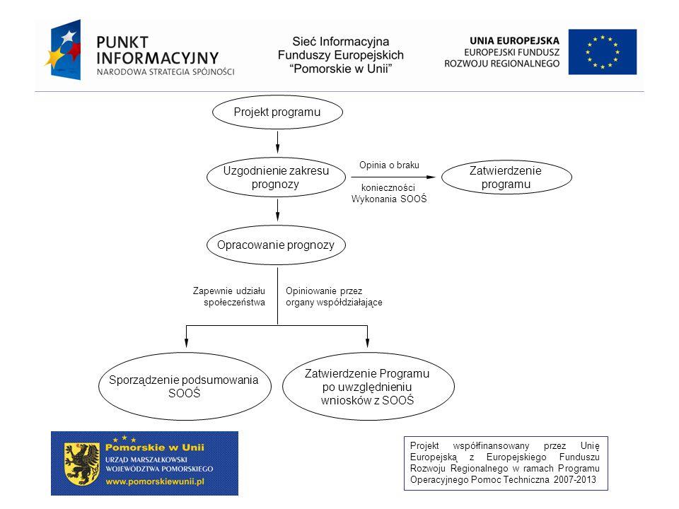 Projekt współfinansowany przez Unię Europejską z Europejskiego Funduszu Rozwoju Regionalnego w ramach Programu Operacyjnego Pomoc Techniczna 2007-2013 Odstąpienie od wykonania SOOŚ (art.