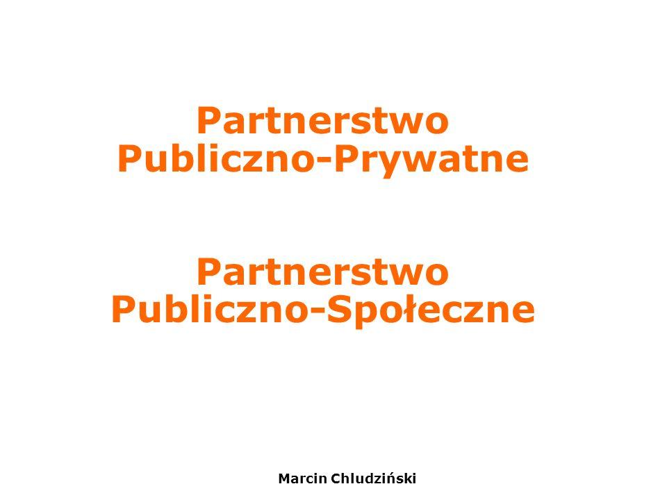 Marcin Chludziński Partnerstwo Publiczno-Prywatne Partnerstwo Publiczno-Społeczne