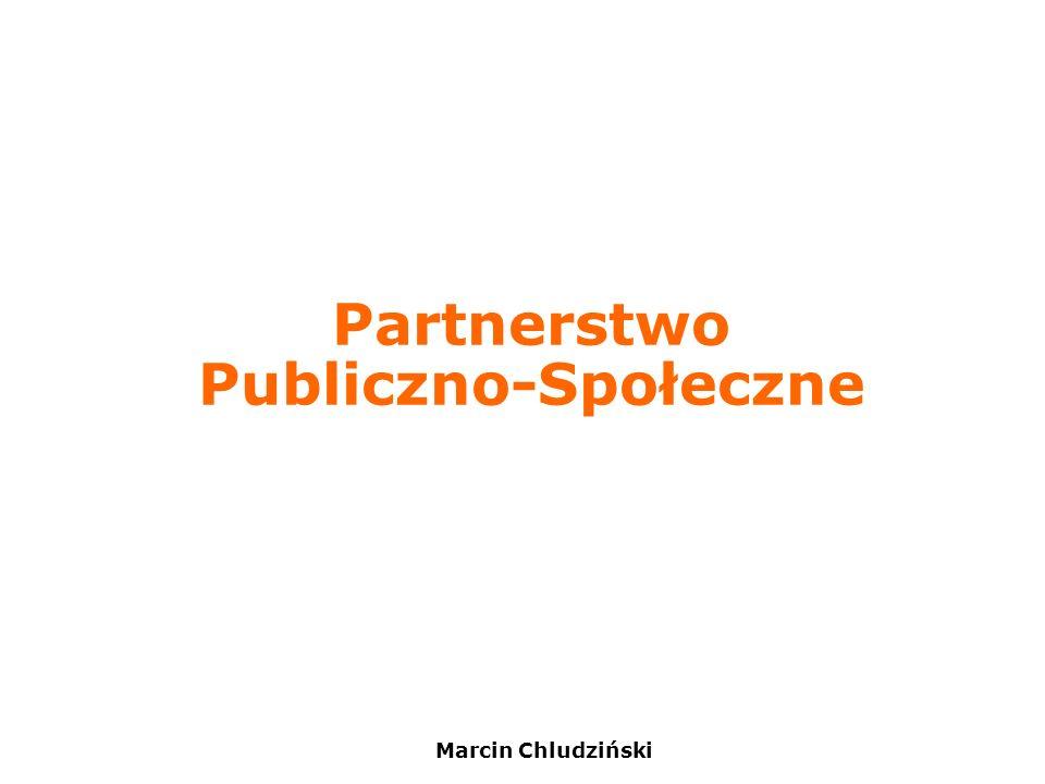 Marcin Chludziński Partnerstwo Publiczno-Społeczne