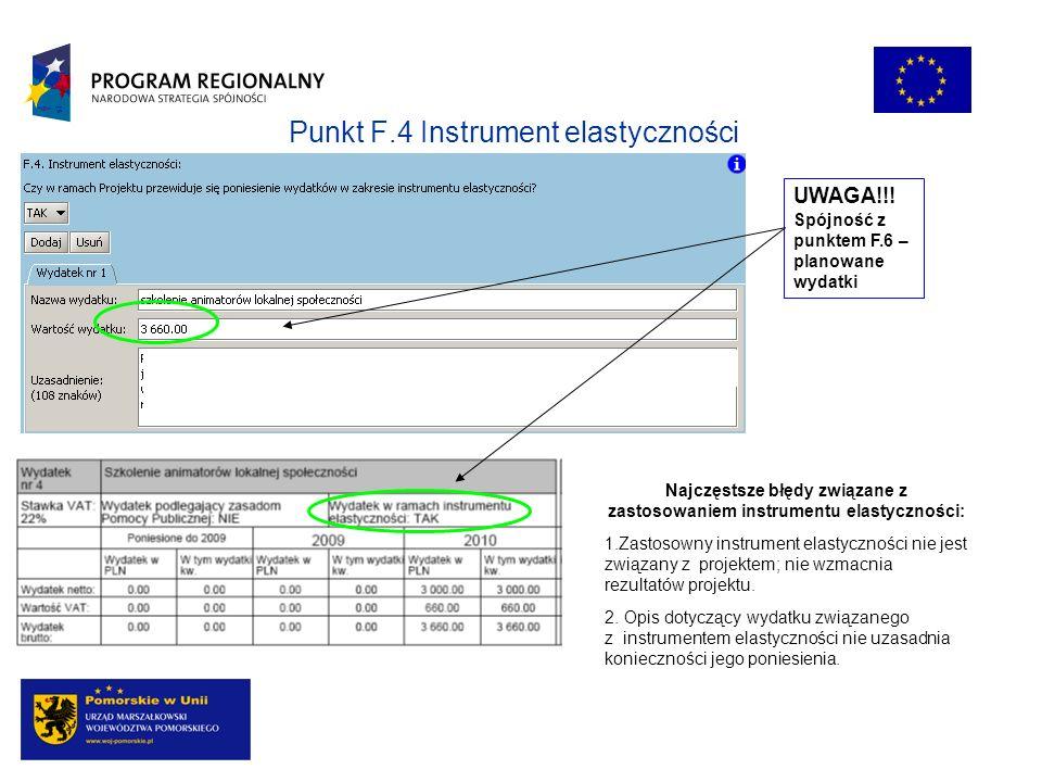 Punkt F.4 Instrument elastyczności UWAGA!!.