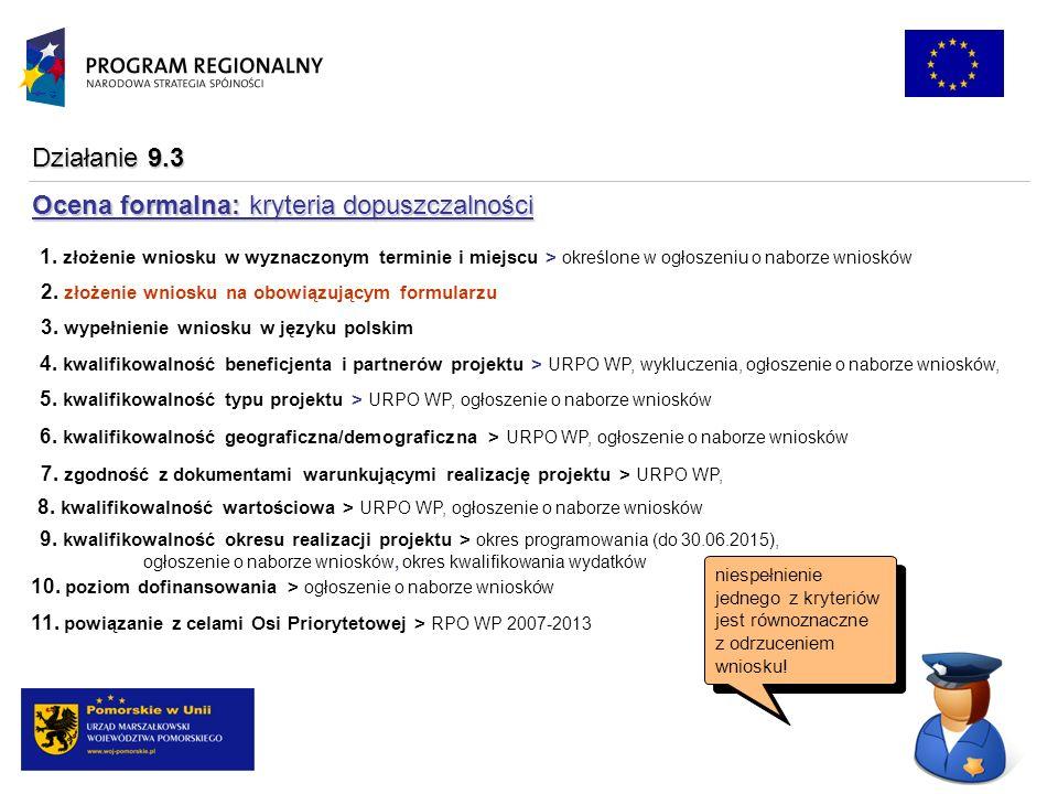 1. złożenie wniosku w wyznaczonym terminie i miejscu > określone w ogłoszeniu o naborze wniosków 2.