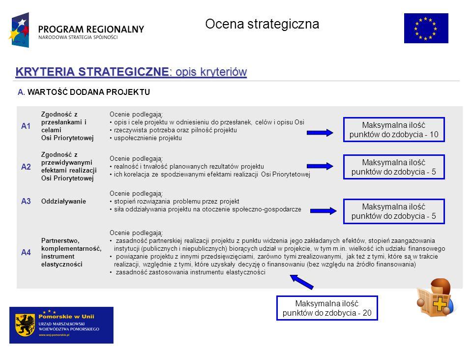 KRYTERIA STRATEGICZNE: opis kryteriów Ocenie podlegają: zasadność partnerskiej realizacji projektu z punktu widzenia jego zakładanych efektów, stopień zaangażowania instytucji (publicznych i niepublicznych) biorących udział w projekcie, w tym m.in.