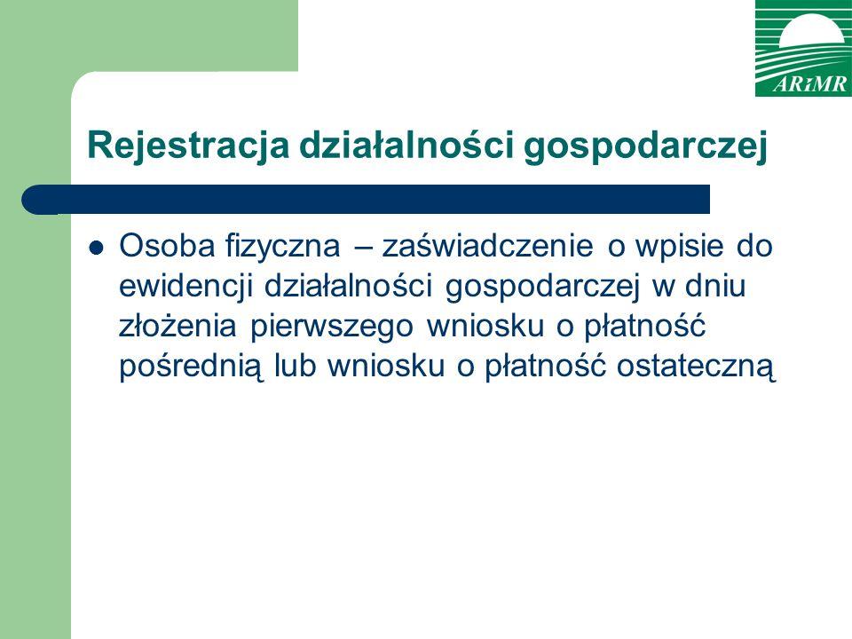 Rejestracja działalności gospodarczej Osoba fizyczna – zaświadczenie o wpisie do ewidencji działalności gospodarczej w dniu złożenia pierwszego wniosk
