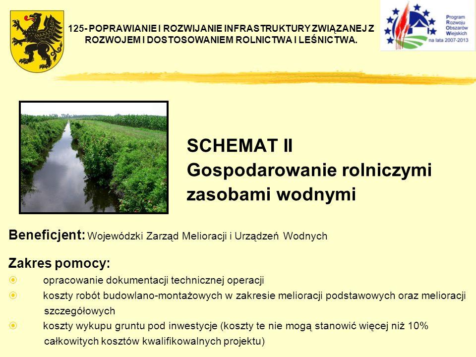 125- POPRAWIANIE I ROZWIJANIE INFRASTRUKTURY ZWIĄZANEJ Z ROZWOJEM I DOSTOSOWANIEM ROLNICTWA I LEŚNICTWA. SCHEMAT II Gospodarowanie rolniczymi zasobami