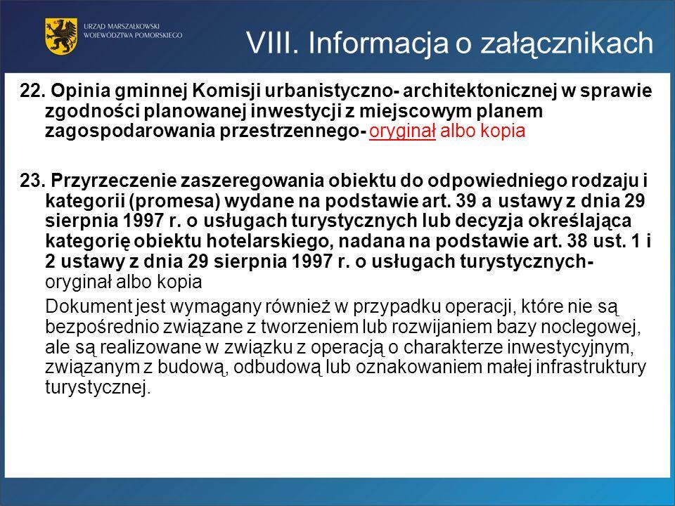 22. Opinia gminnej Komisji urbanistyczno- architektonicznej w sprawie zgodności planowanej inwestycji z miejscowym planem zagospodarowania przestrzenn