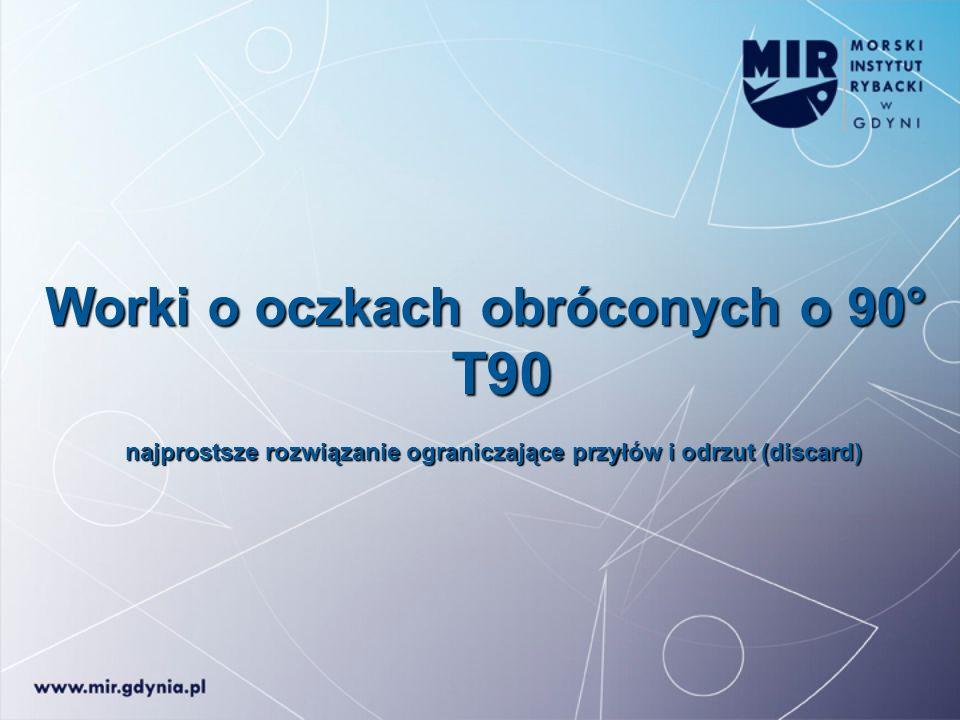 Worki o oczkach obróconych o 90° T90 T90 najprostsze rozwiązanie ograniczające przyłów i odrzut (discard)