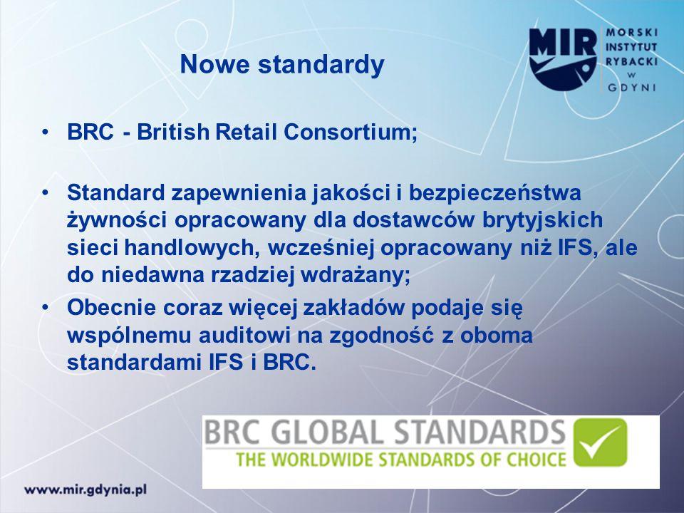 Nowe standardy BRC - British Retail Consortium; Standard zapewnienia jakości i bezpieczeństwa żywności opracowany dla dostawców brytyjskich sieci hand