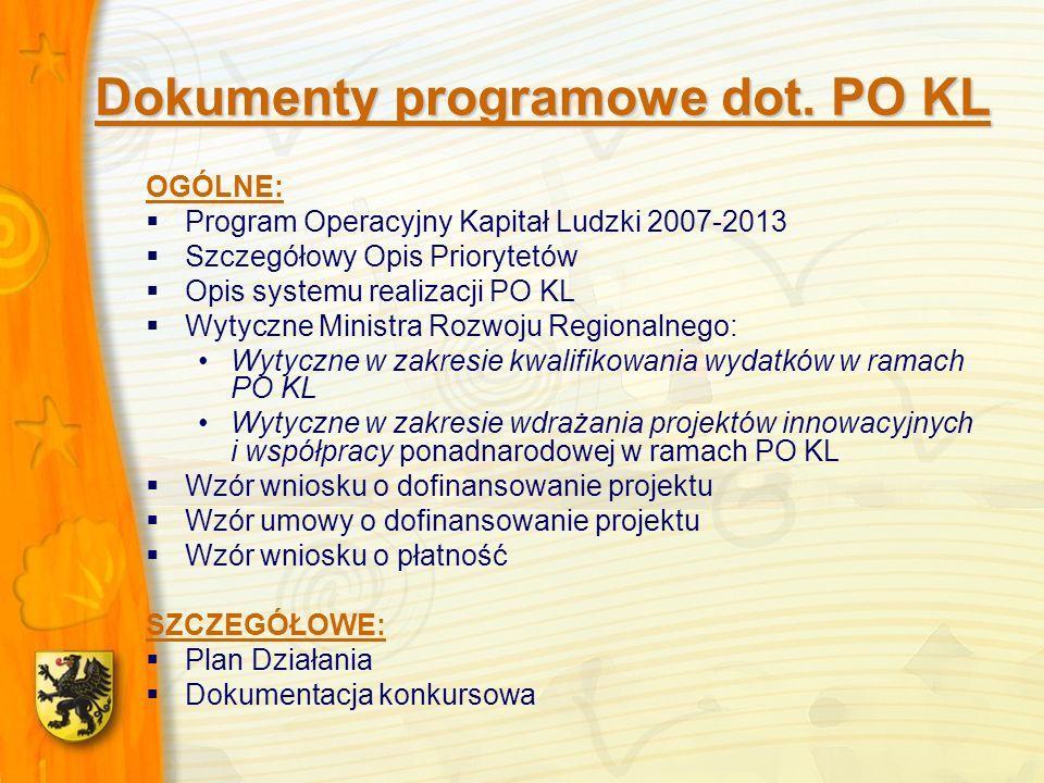 Dokumenty programowe dot.