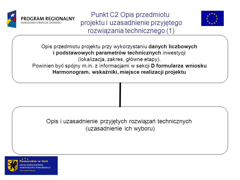 Opis przedmiotu projektu przy wykorzystaniu danych liczbowych i podstawowych parametrów technicznych inwestycji (lokalizacja, zakres, główne etapy). P