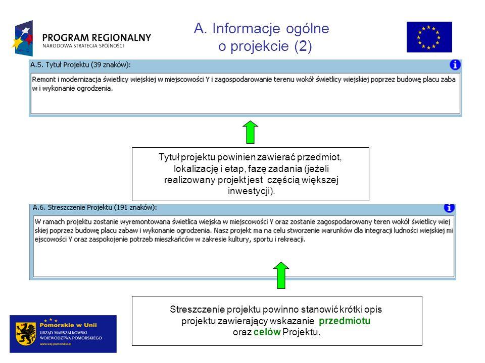 B. Informacje o beneficjencie