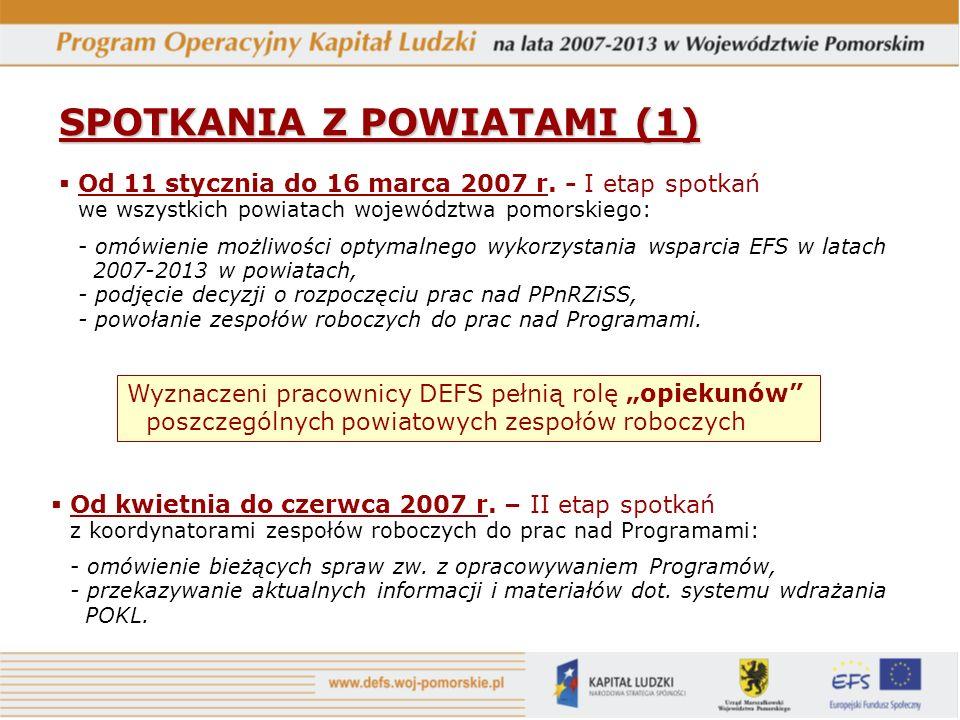 SPOTKANIA Z POWIATAMI (2) 22 czerwiec 2007 r.