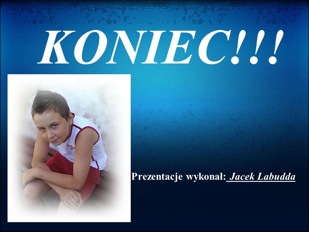 KONIEC!!! Prezentacje wykonał: Jacek Labudda