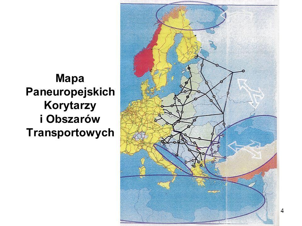 4 Mapa Paneuropejskich Korytarzy i Obszarów Transportowych