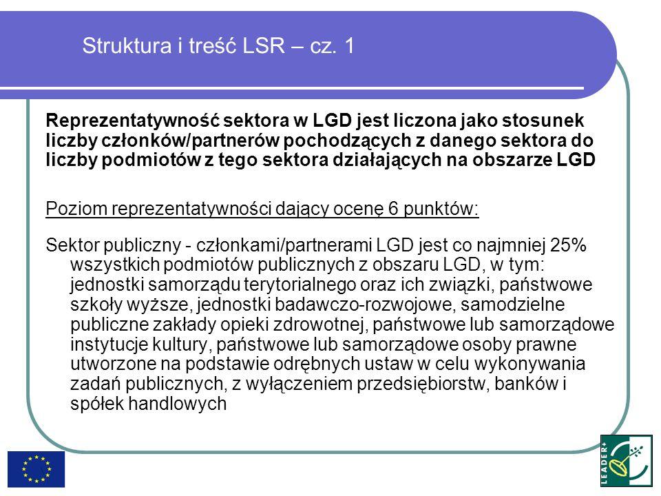 Struktura i treść LSR – cz.