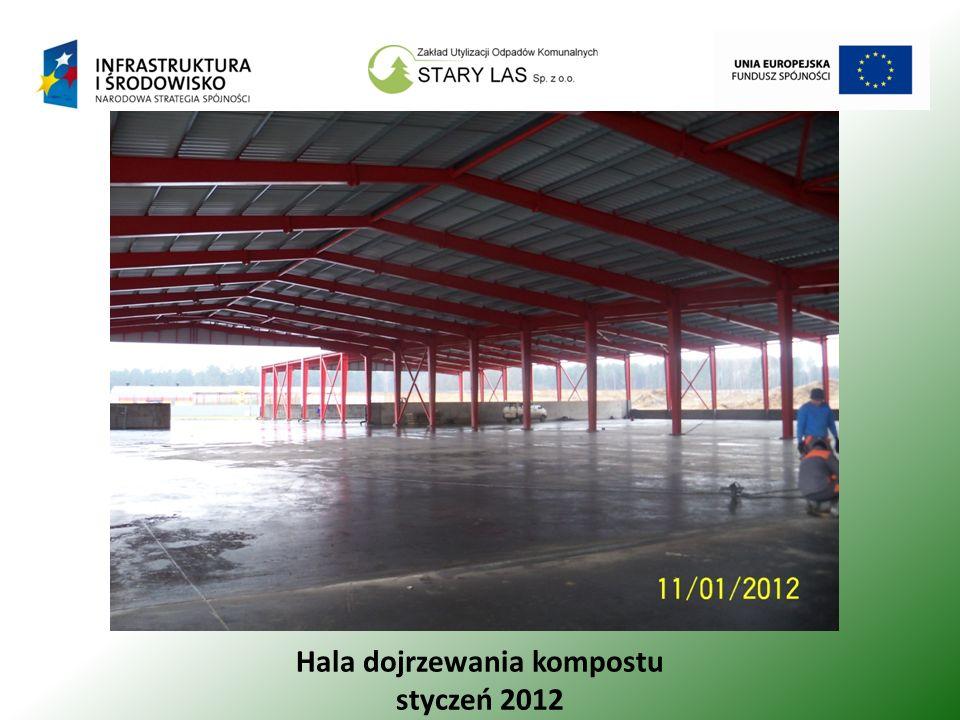Hala dojrzewania kompostu styczeń 2012