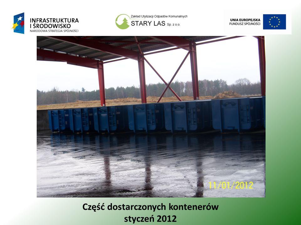 Część dostarczonych kontenerów styczeń 2012