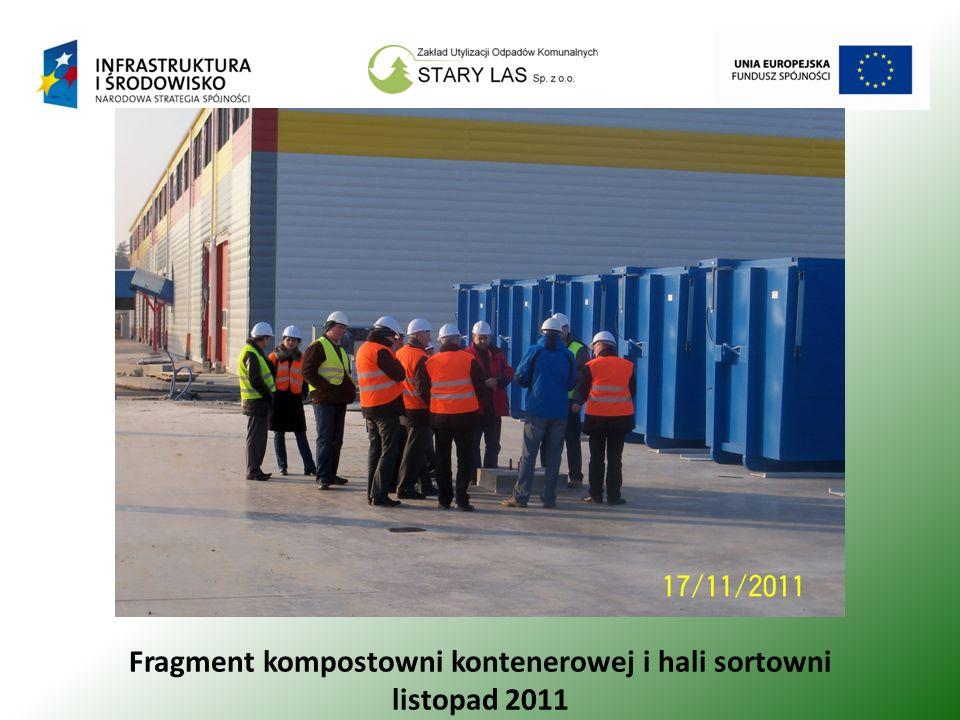 Fragment kompostowni kontenerowej i hali sortowni listopad 2011