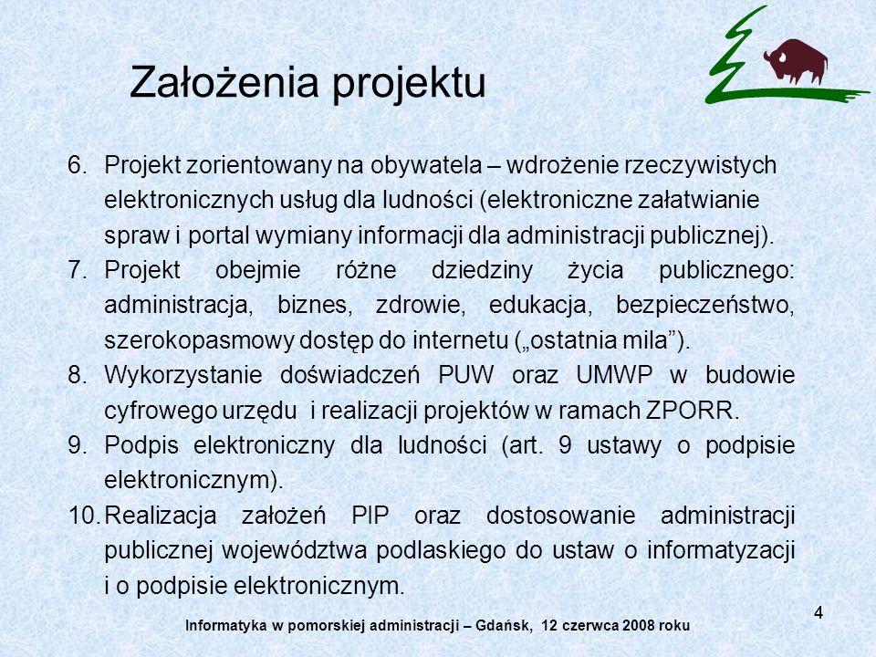 44 6.Projekt zorientowany na obywatela – wdrożenie rzeczywistych elektronicznych usług dla ludności (elektroniczne załatwianie spraw i portal wymiany