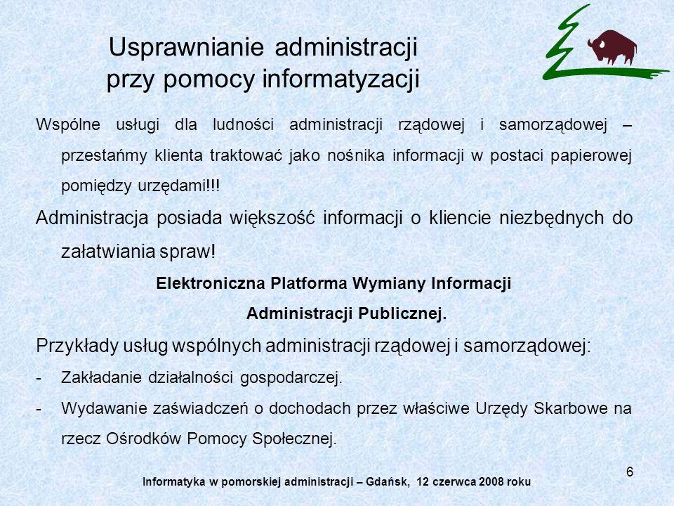 6 Wspólne usługi dla ludności administracji rządowej i samorządowej – przestańmy klienta traktować jako nośnika informacji w postaci papierowej pomięd