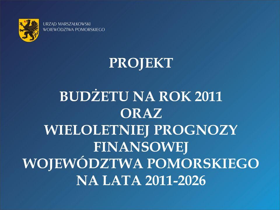 PROJEKT BUDŻETU NA ROK 2011 ORAZ WIELOLETNIEJ PROGNOZY FINANSOWEJ WOJEWÓDZTWA POMORSKIEGO NA LATA 2011-2026