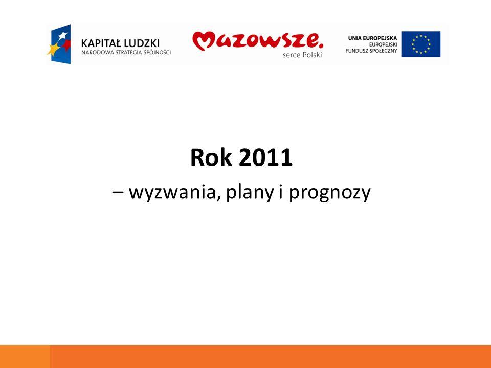 Rok 2011 – wyzwania, plany i prognozy