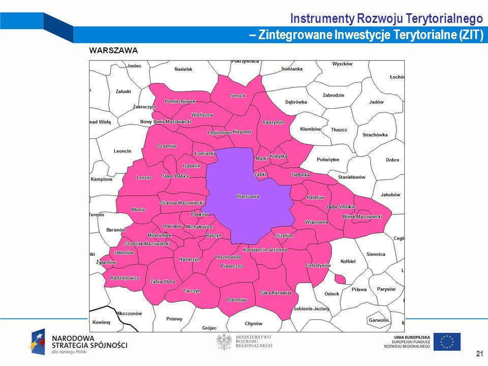 21 Instrumenty Rozwoju Terytorialnego – Zintegrowane Inwestycje Terytorialne (ZIT)