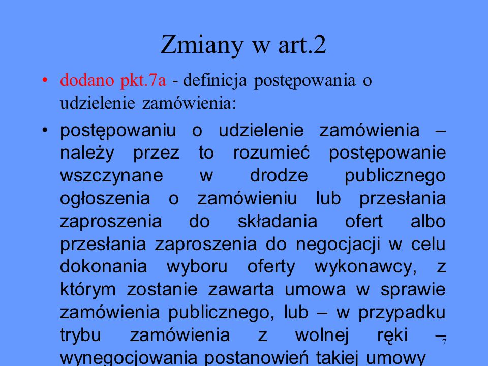 48 Zmiany w art.94 Zmieniono treść tego artykułu na 2.