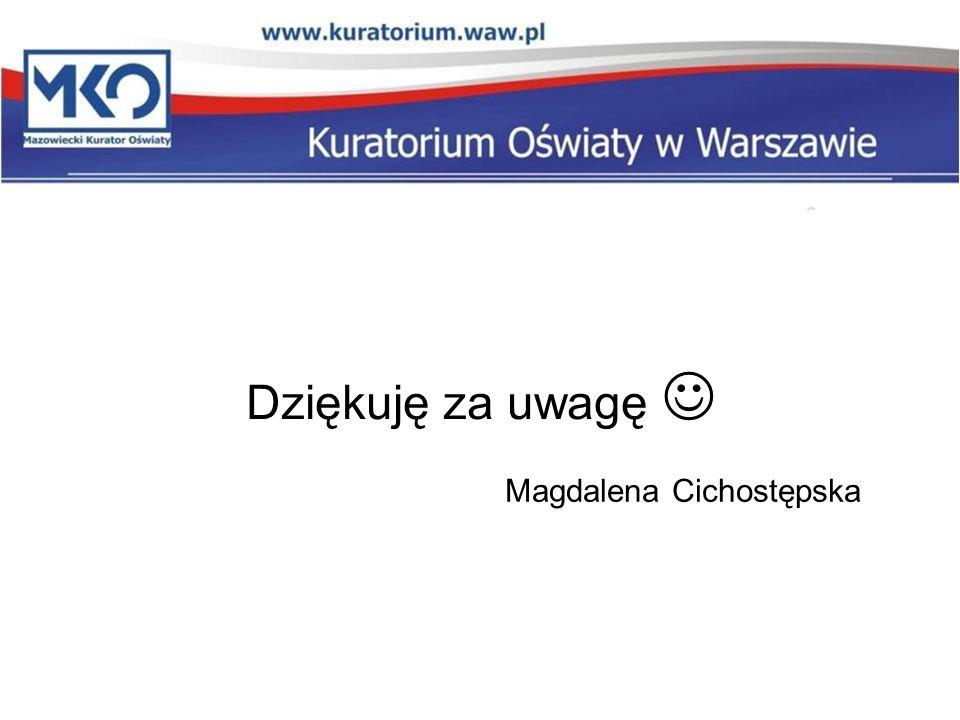Dziękuję za uwagę Magdalena Cichostępska